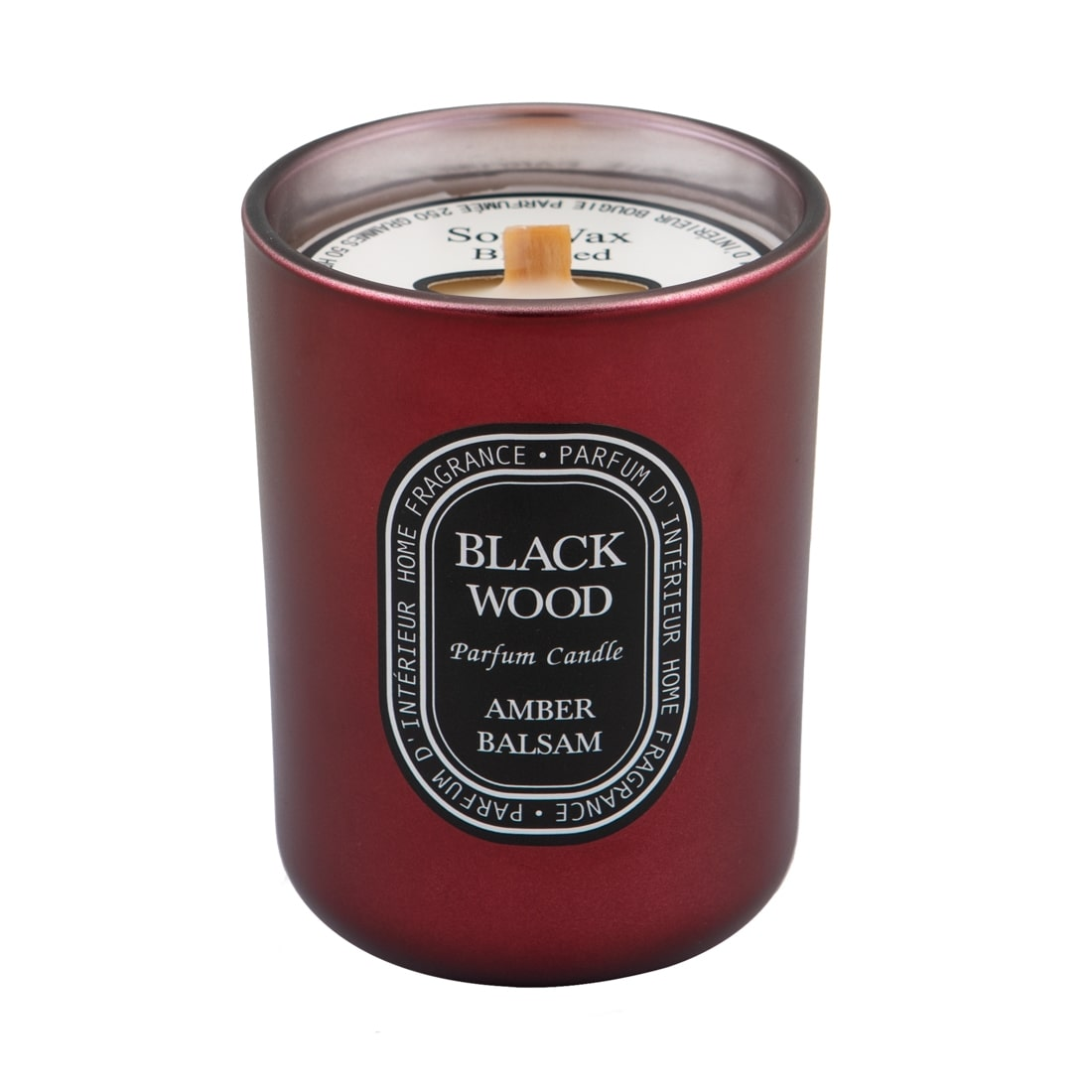 Black Wood Parfum Candle Amber & Balsam 250gr